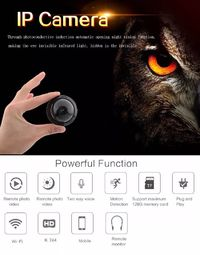 E09 1080P MiNi WIFI IP Security Camera Wireless Small Infrared Night Vision Motion Audio Network CCTV