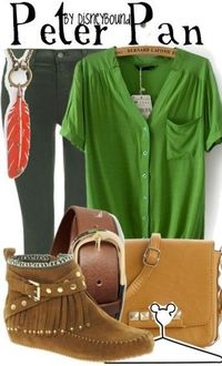 I want to have this outfit!!! I love Peter Pan, one of my all time favorite Disney characters!