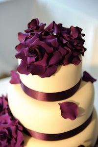 Simple Cake with Sugar Flowers