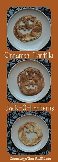 Just use a corn tortilla and these work great for a really cute gluten free Halloween treat!