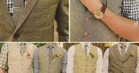 vests and folded sleeves <3 I want this! Simple! And intimate wedding where everyone is comfortable but still nicely dressed :)