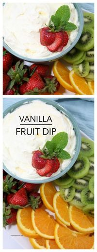 Dessert Ideass| Summer is one of my favorite times of year. We tend to have a lot of family get togethers and Fruit and Vanilla Fruit Dip is a great party food to bring to your family parties!