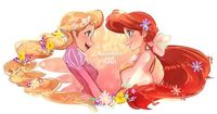 My 2 favorite Disney Princess Rapunzel and Ariel beside Elsa and Anna