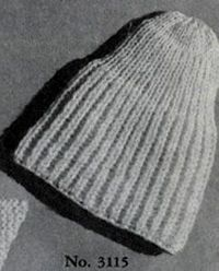 Pull-On Cap knitting pattern from Lacey's Speed Knits for Tiny Tots, originally published by T.M. Lacey, Volume 31.