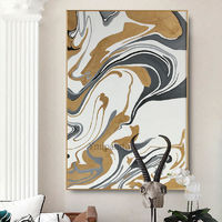 Modern Gold Abstract acrylic painting on canvas Original extra Large painting 2 piece wall art Home Decor Hand Painted cuadros abstractos $79.00