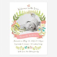 Forest Birth Announcements www.lovevsdesign.com