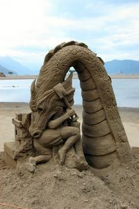 Sand Art-- someone had a lot of time on their hands for this one, but it is really cool! :)