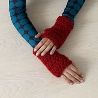 Stay cozy in cold offices with these wrist warmers. (Lion Brand Yarn)