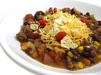 Skinny Crock Pot Taco Stew (or stove top) from Skinny Kitchen