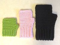 Crocheted Simple Fingerless Gloves for the Whole Family - Tutorial � thanks so xox