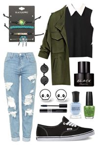 """""""Wrist Bands"""" by patriciasaysno � liked on Polyvore featuring Topshop, Vans, Muse, Kenneth Cole, OPI, Hot Topic and Christian Dior"""