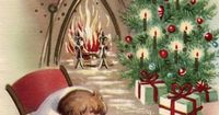 I love vintage Christmas cards! This is a selection of 30 of the best vintage and mid-century Christmas images, plus links to more, to print and decorate for th