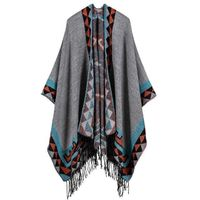 Boho poncho pattern Geometric women $59.00
