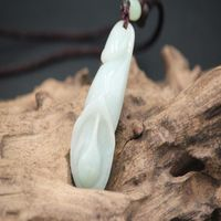 Morning Glory Jade Pendant / A Grade Emerald Necklace / Green Jade Pendant / Amulet Necklace / Jade Jewelry / Jade Necklace