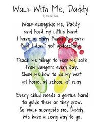 photograph relating to Walk With Me Daddy Poem Printable named Article content comparable in the direction of: Make.Craft.Enjoy.: Wander With Me, Daddy