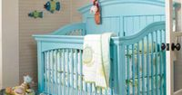 Love the idea of this kind of crib. Comes in just about any color you can think of and as baby grows, the crib converts to a daybed/toddler bed and eventually a full bed. Wish they had these when MY kids were babies!