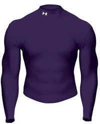 Under Armour Golf Coldgear Mock Purple Under Armour has been a sensation in the sporting world in the last 12 months.amp;nbsp; In most sporting fields you can see the distinctive logo peering through players jerseys.amp;nbsp; The Coldgea http://www.compar...