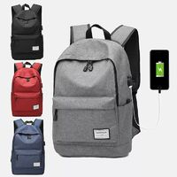 Men Large Capacity Waterproof Multi-layer USB Oxford light weight Backpack Outdoor bag