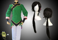 RWBY Lie Ren Cosplay Costume Outfits + Wig