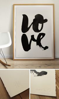 LOVE - Limited Edition Screen Print | Blacklist
