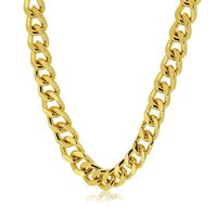 Premium Gold Plated 8mm 30 inches Cuban Curb Hip Hop Bling Chain Necklace £22.95