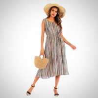Casual Striped Bohemian Maxi Dress $19.99