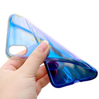 Baseus Protective Case For iPhone XS Gradient Glow Shockproof Soft TPU Back Cover