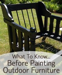 You can give your outdoor furniture a facelift by painting it! However, there are a few things you need to�€� Read more »