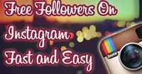 Get Free #Followers on #Instagram Fast and Easy. You're just a few clicks away from becoming a star!