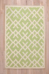Cross-Hatch Dhurrie Rug