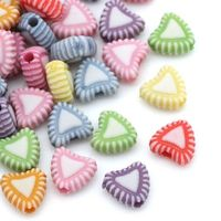 Pack of 100 Assorted Love Heart Acrylic Beads. 7mm x 8mm. White & Candy Pastel Colours. For Children's Crafts, Jewellery Making and Macrame. £2.49