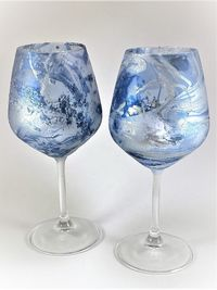 Set of 2 Glass Candle Holders $25.00