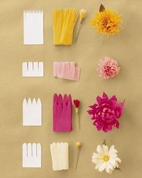 DIY Crafts / Continuous-Petal Method - How to Make Crepe-Paper Flowers - DIY Weddings - Mart found on http://pinterest.com/pin/123401775/