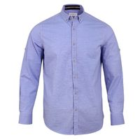 Create a stylish look with this Oxford Men sky blue casual shirt. Woven in Egyptian cotton. this casual shirt has a fine finish.  �€� 100% Cotton  �€� Classic collar  �€� Full Sleeve  �€� Oxford Men  �€� Machine...