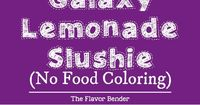 Color Changing Galaxy Lemonade Slushie - There's no food coloring in this Color Changing Lemonade Slushie! Just a dash of magic from magic ice and delicious lem
