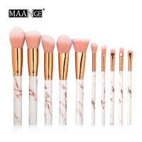 �Ÿ˜�MAANGE Pro 10/4Pcs Multifunctional Makeup Brush Set Eyeshadow Powder Foundation Lip Eyeliner Blush Marble Makeup Brush Tools�Ÿ˜� $10.66