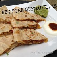 I'm A Celiac: BBQ Pork Quesadillas