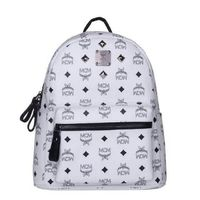 MCM Small Stark Four Studded Backpack In White