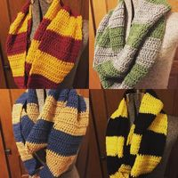 ohjadee Harry Potter scarves are all done!! #crafty #craftybitch #crochet�€�