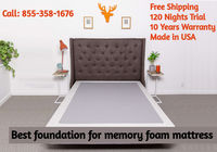 Get the best mattress foundation at Layla Sleep. We offer free shipping, 120 nights trial period and 10 years warranty on our products. Contact 844-775-2952