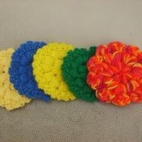 cute crochet for kitchen and bath... this picture is the Puff Stitch Scrubbie