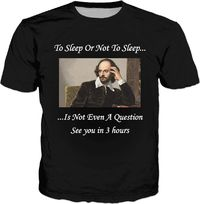 To Sleep Classic Black T-Shirt $30.00