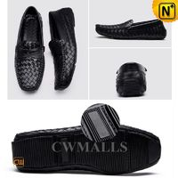 CWMALLS® New York Woven Leather Driving Moccasins CW706159[Patented Design, Custom Made]