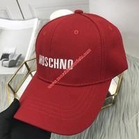 Moschino Embroidered Logo Womens Cotton Cap Red