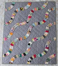 Snake trail baby quilt