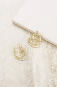Triple Ring Illusion Hoop in Gold �'�31.99
