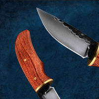 Hand Forged Hunting Knife Fixed Blade Camping Outdoor Home Tools $21.90