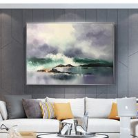 Modern abstract painting on canvas art oil painting original sea waves texture Wall Art picture for living room home decor caudro decoracion $79.00