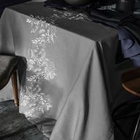 Saisons Dark Dove Tablecloth by Alexandre Turpault $260.00