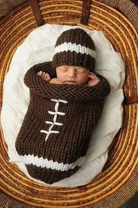 Football cocoon - Click image to find more DIY & Crafts Pinterest pins